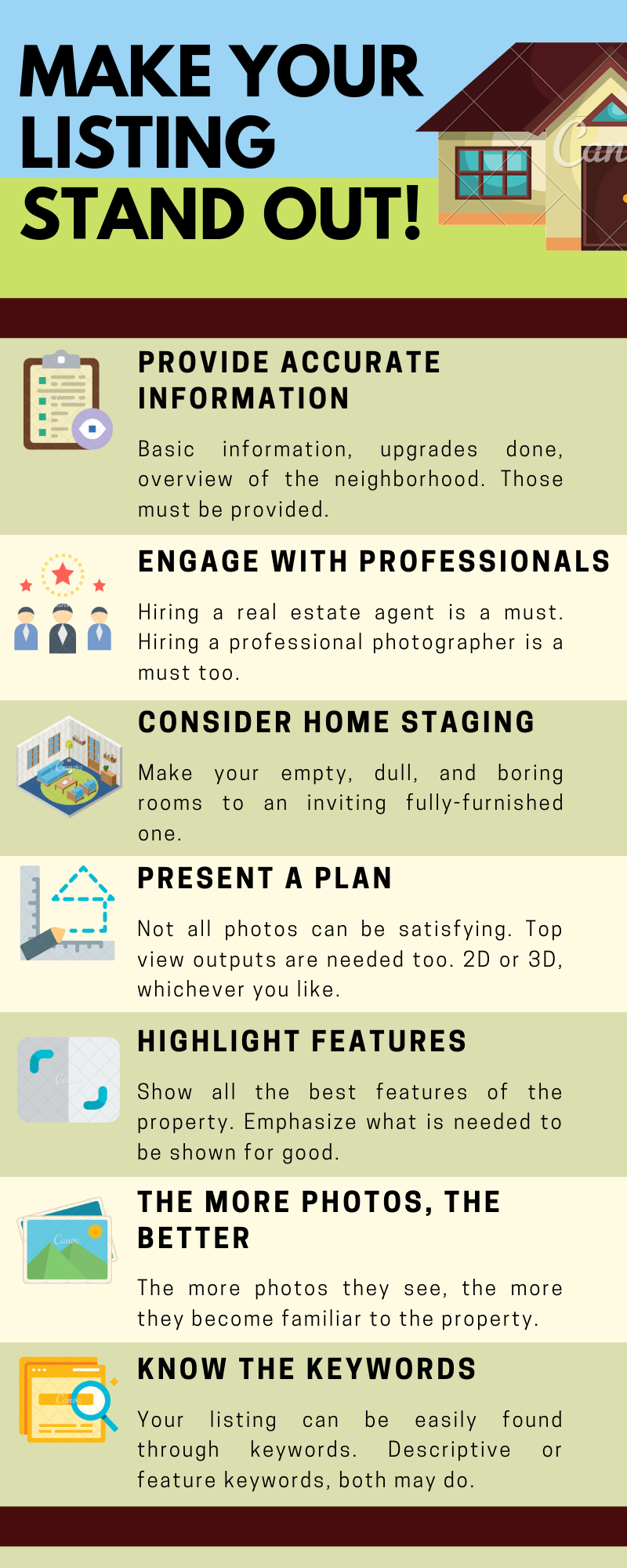 tips for real estate infographic