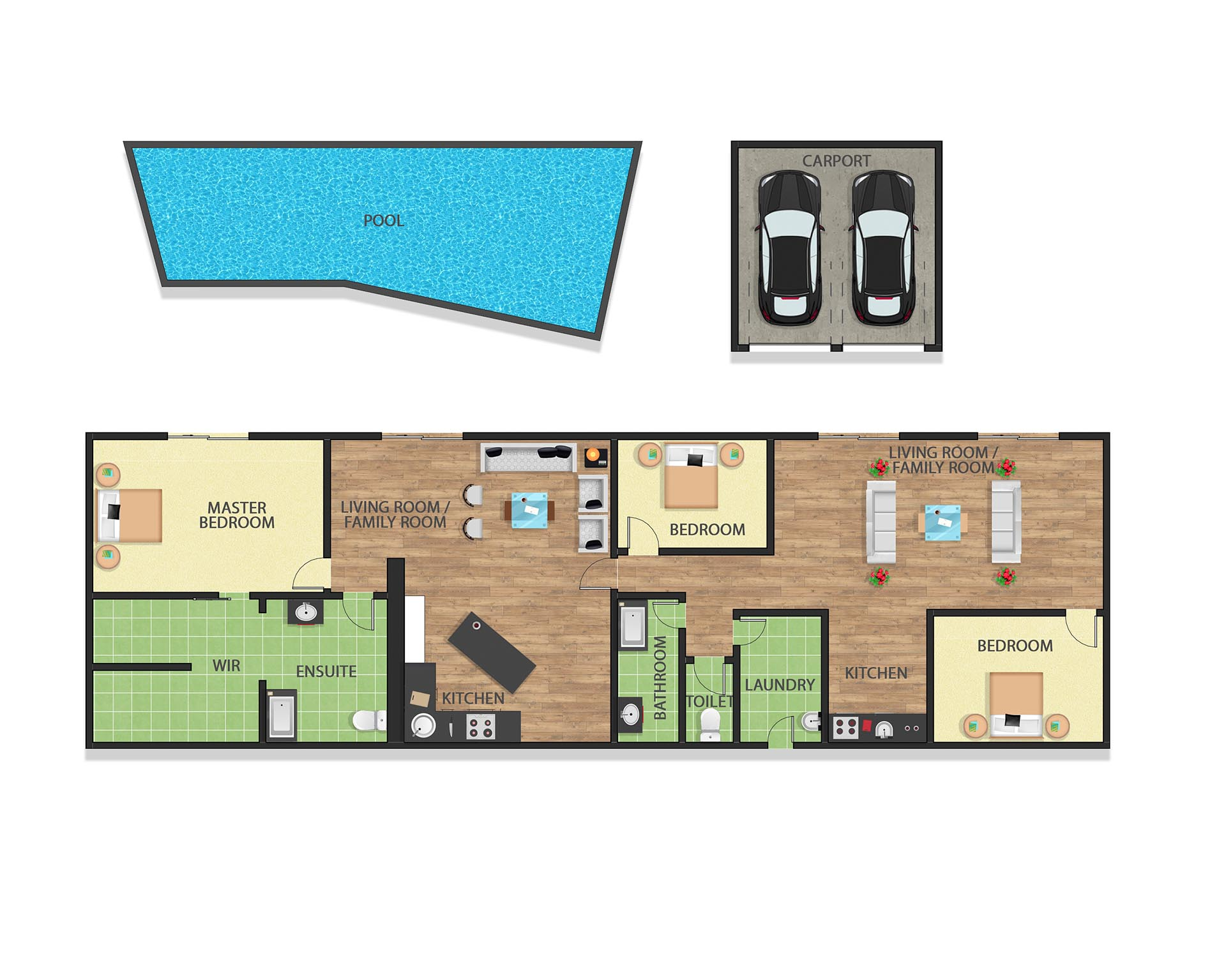 TEXTURED HOUSE LAYOUT