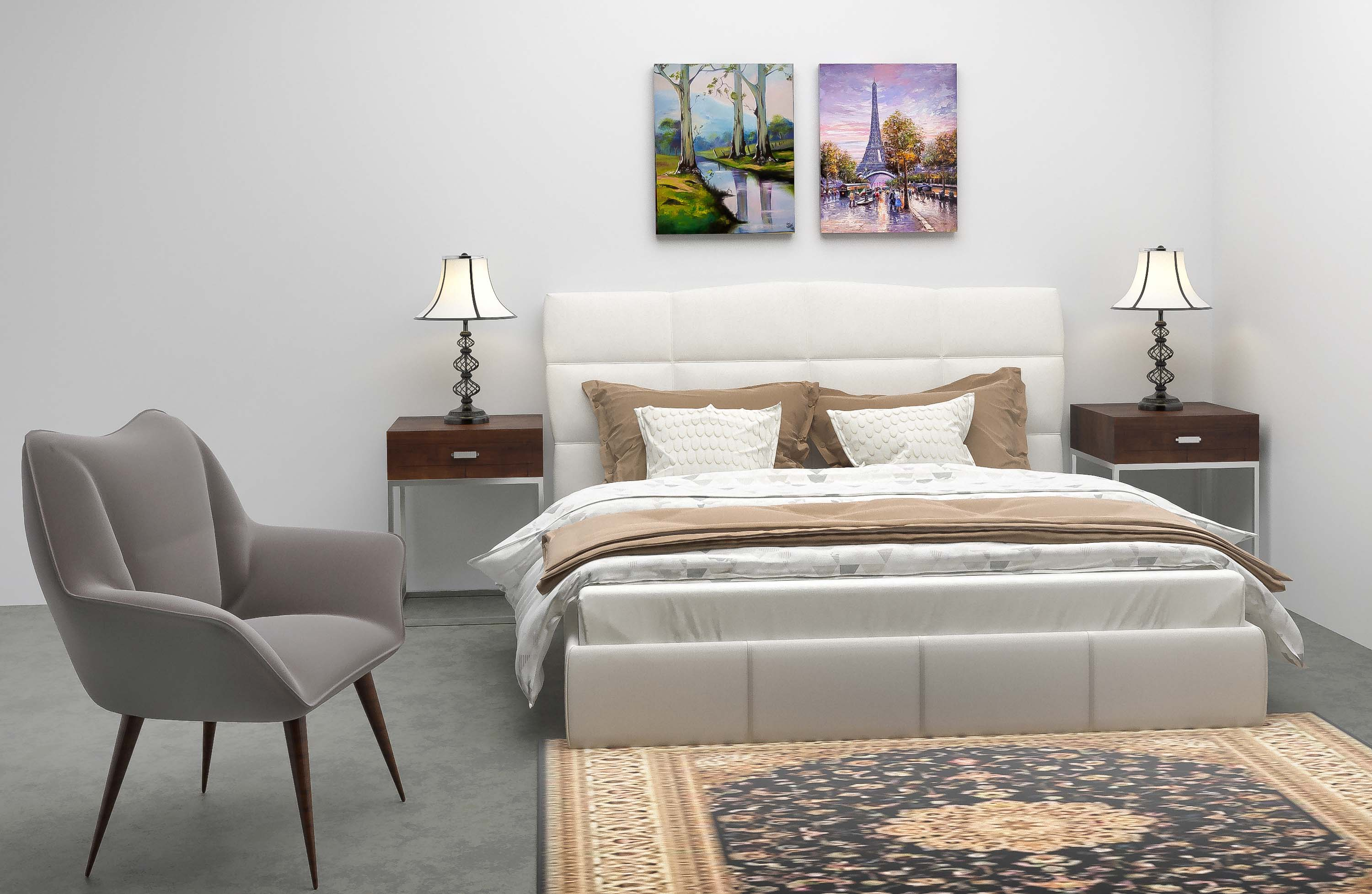 bedroom 3d design render