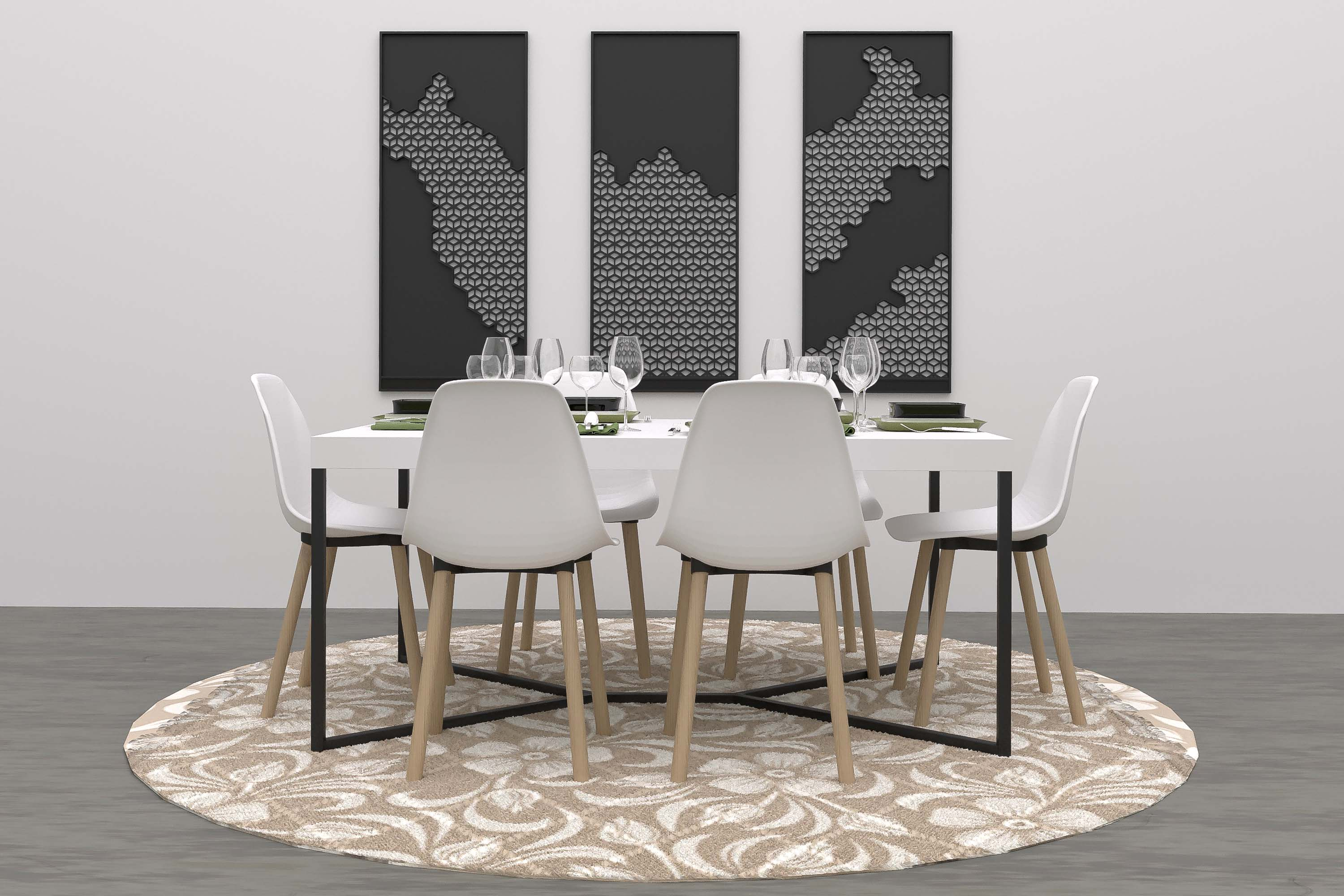 modern dining virtual furniture
