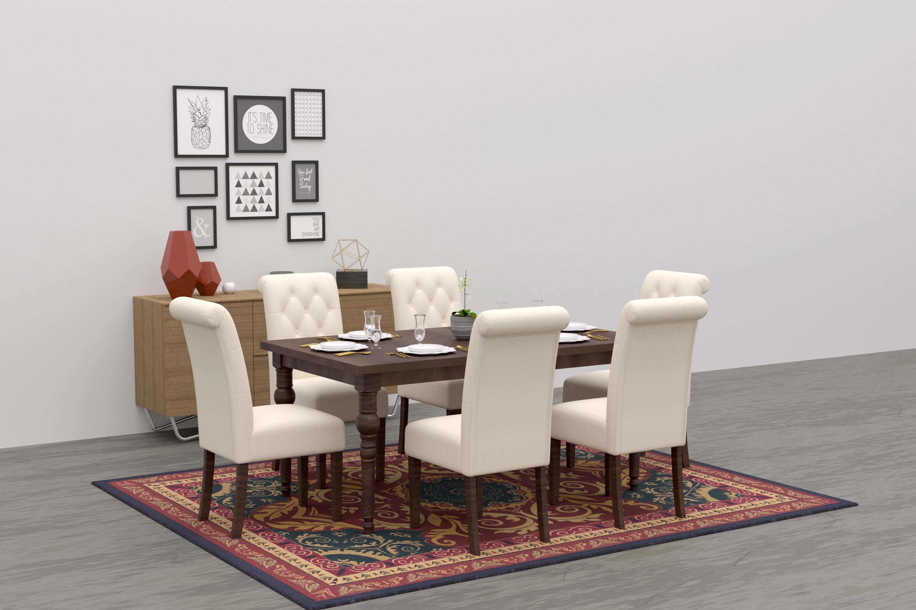 traditional dining room virtual staging