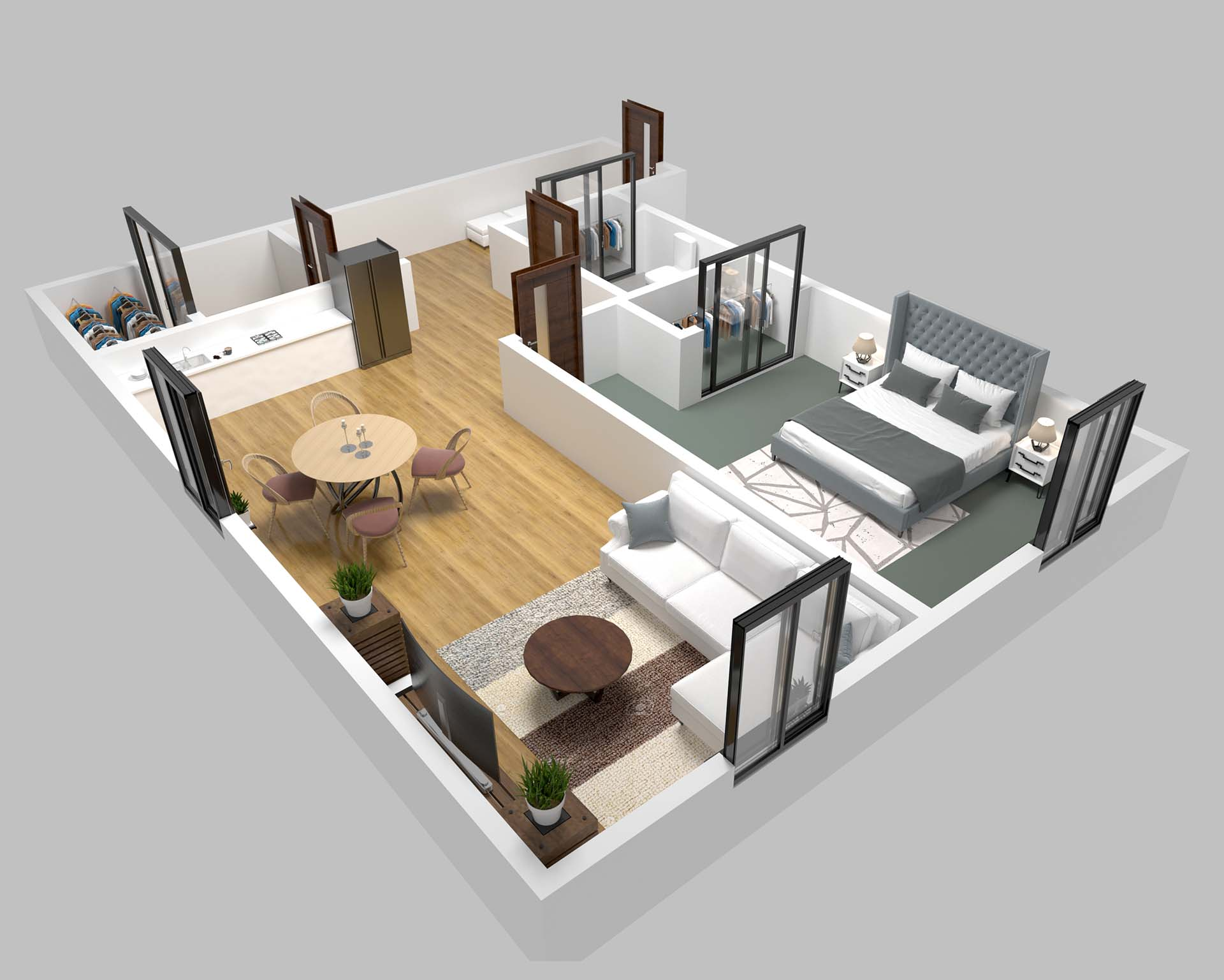 3D Floor Plan Daylight
