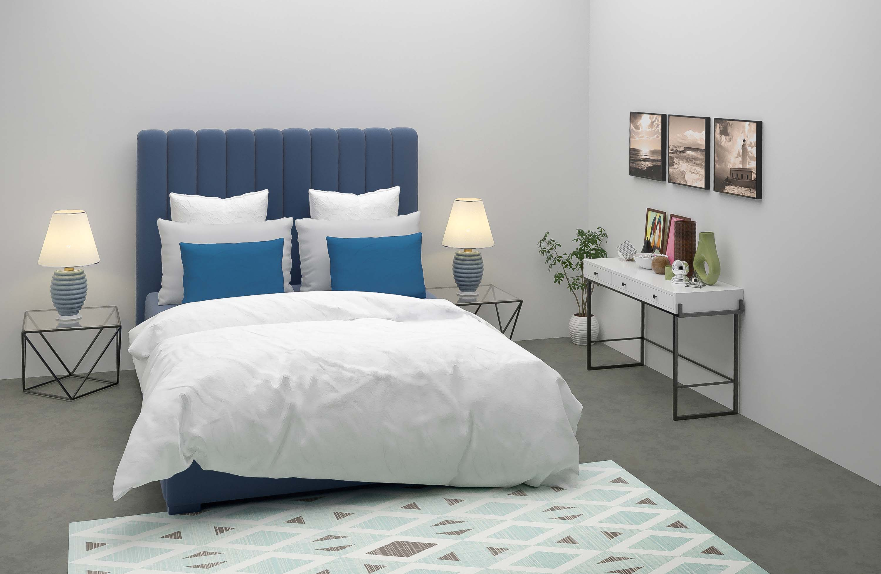 bedroom virtual home staging