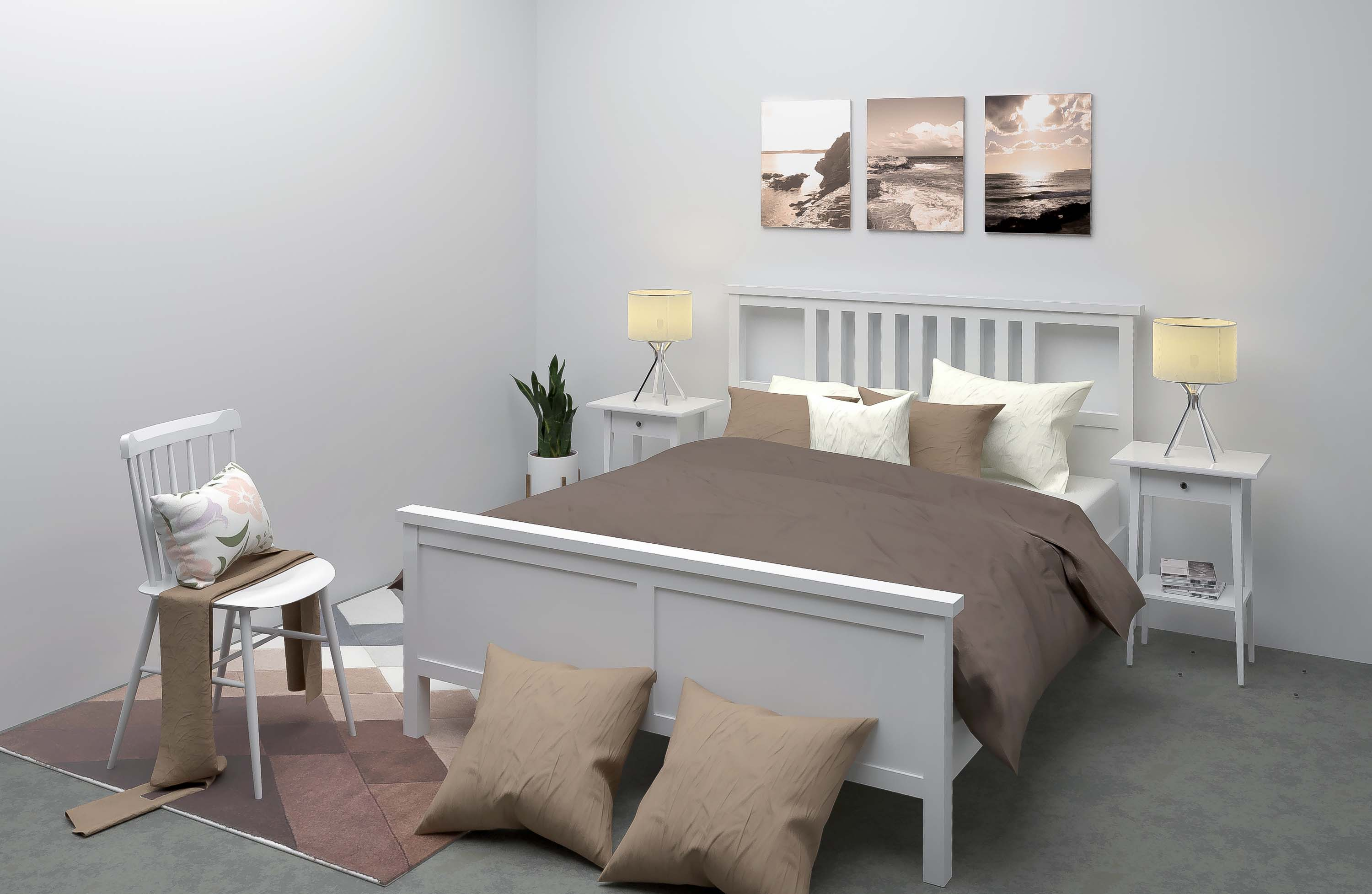 classic bedroom 3d home staging