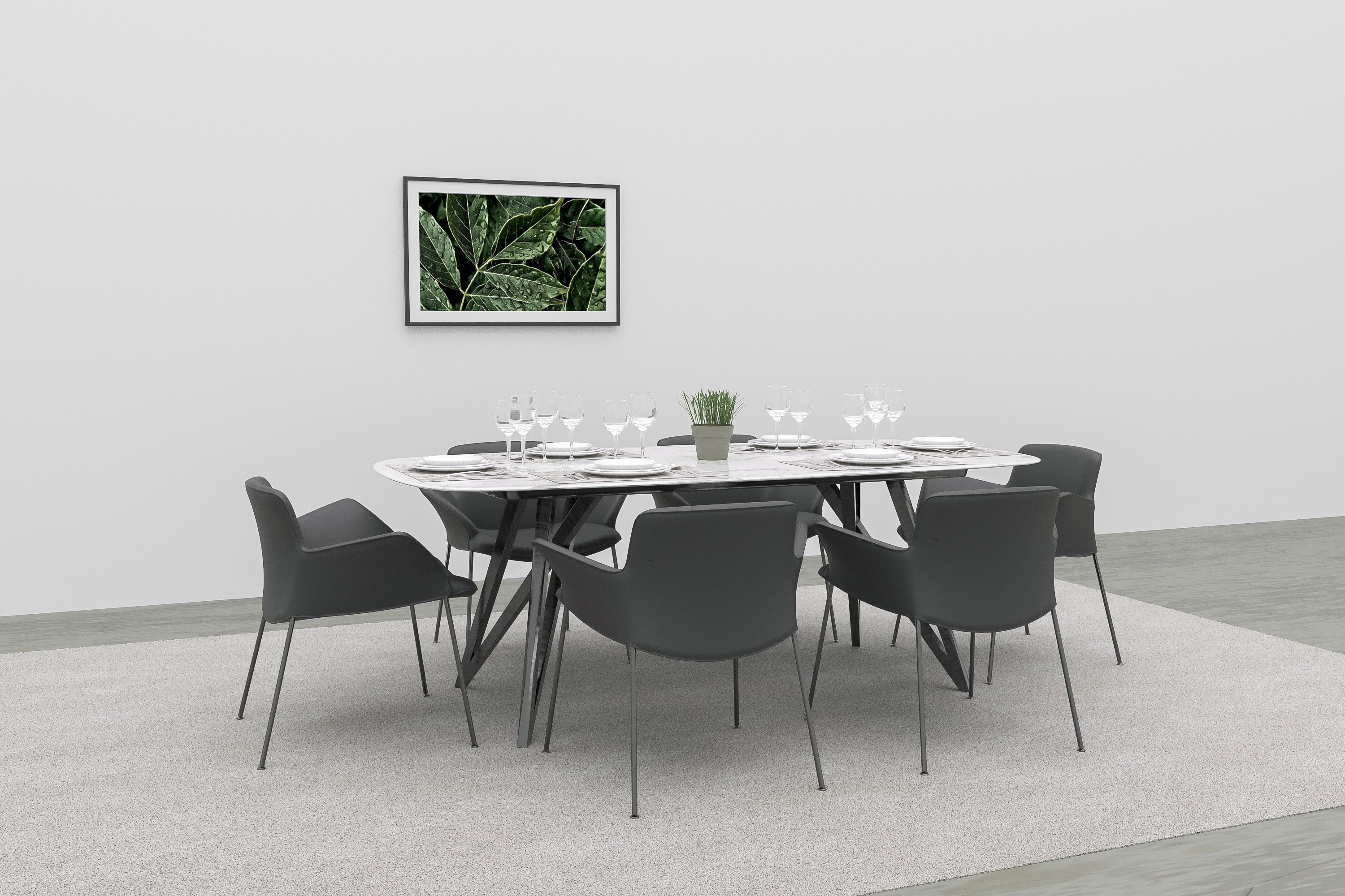 3d dining room virtual furniture