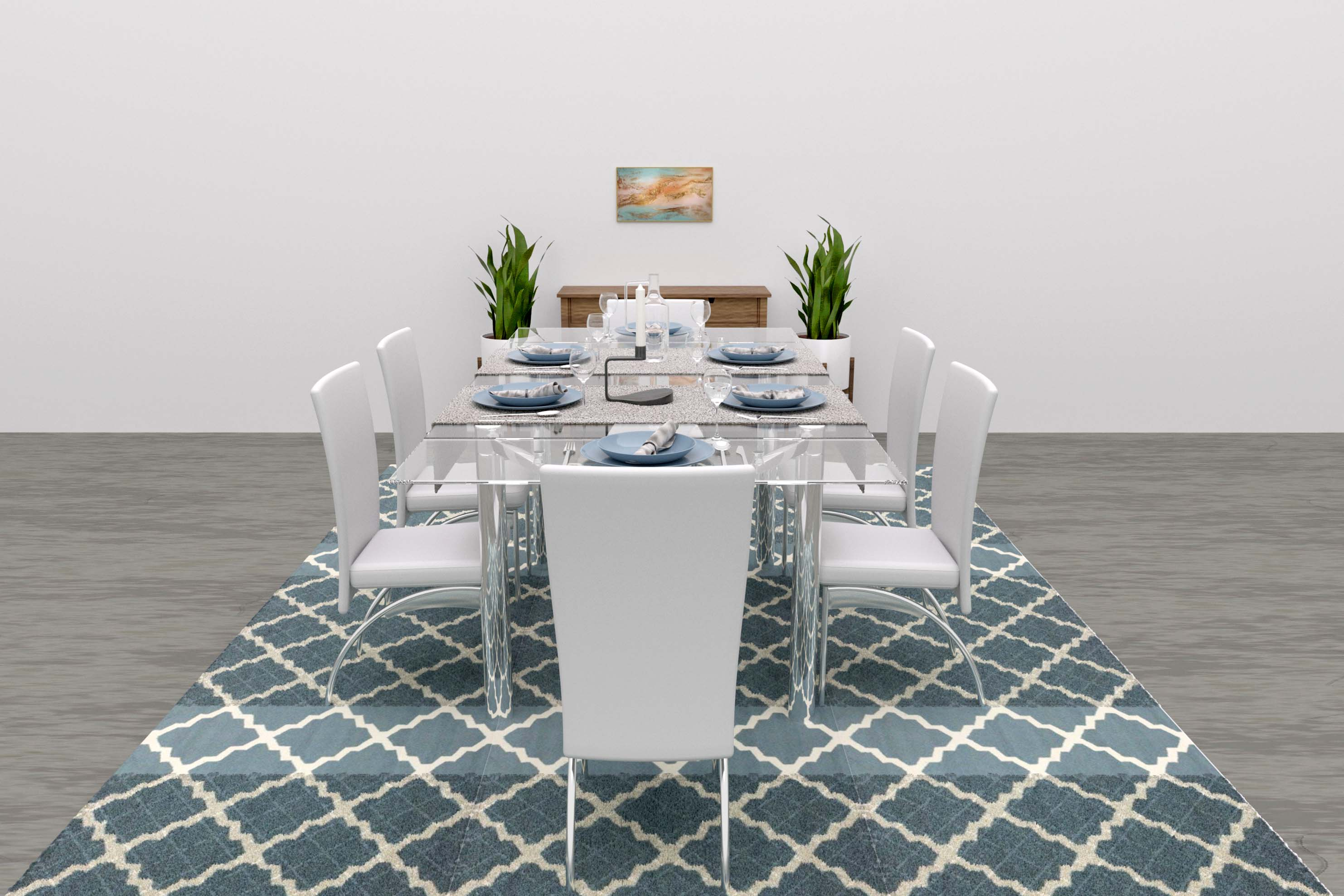 modern dining room virtual staging