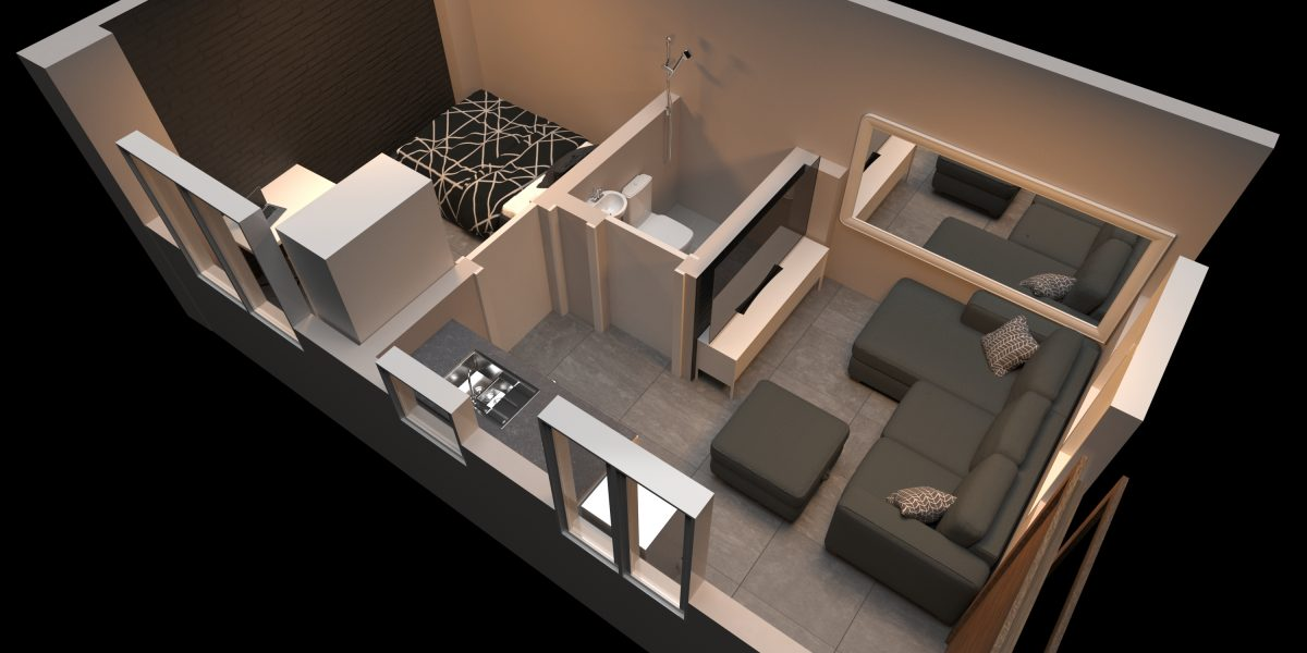 small 3d floor plan