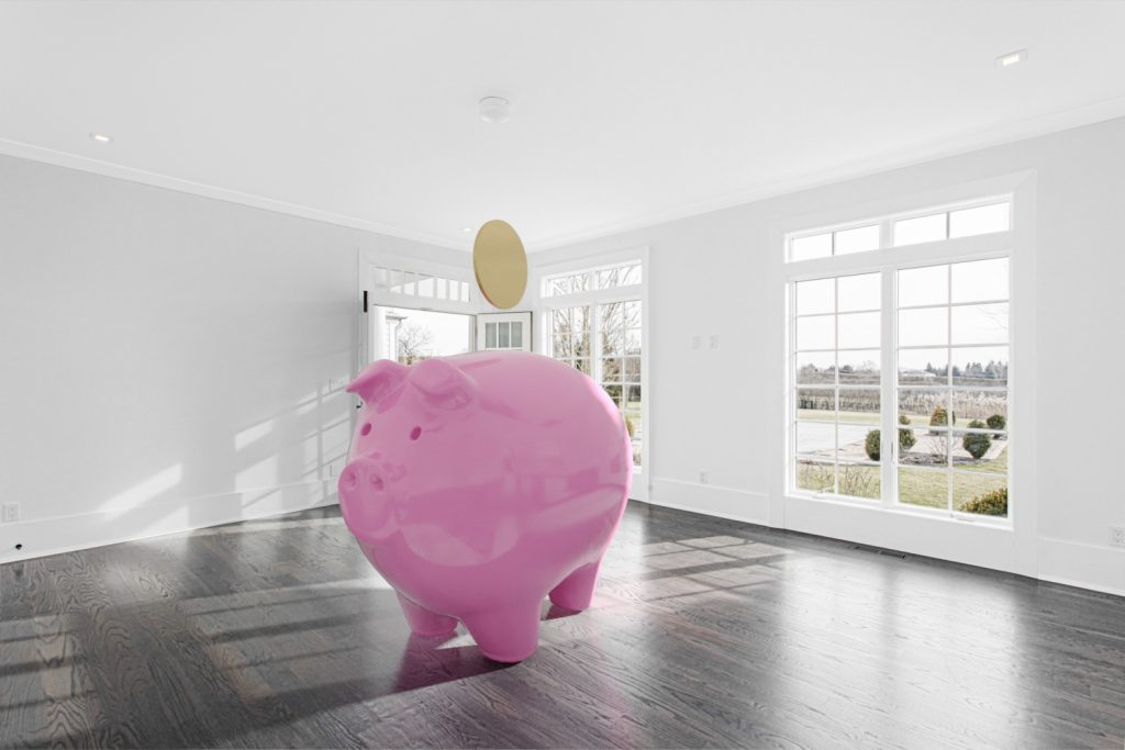 piggy bank virtual staging